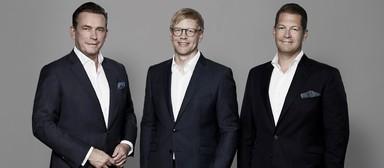 Magna-Vorstand mit Frank Hermanns (Mitte).