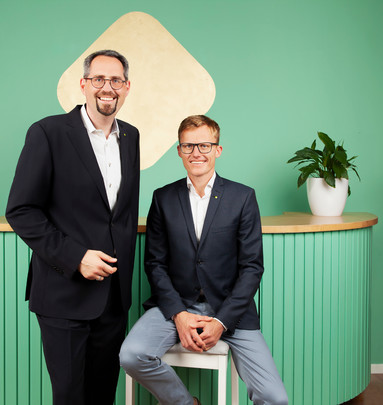 Künftige Kiwi-Geschäftsfühung: Novize Alexander Pannhorst (links) und Karsten Nölling.