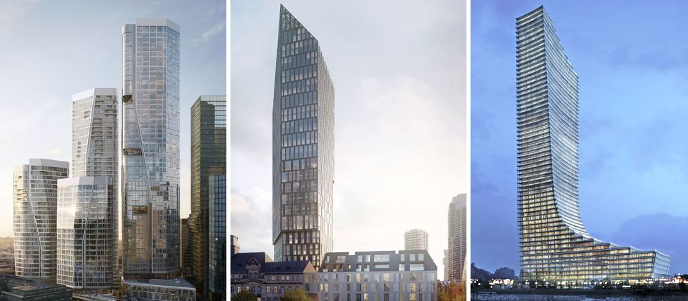 Four Quelle: Groß & Partner/ UNStudio; Präsidium Quelle: Gerchgroup AG, Urheber: Florian Schlüter; Elbtower Quelle: David Chipperfield Architects