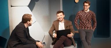 Die drei Gründer von Aptum: v.l.: Dominik Talhof, Philipp Ott und Michael W. Urmann.