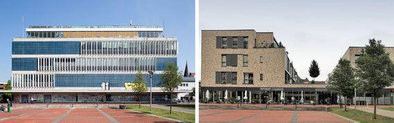 Quelle: Architektur Bildarchiv; Urheber: Thomas Robbin (Bild links), Urheberin: Nina Hangebruch (Bild rechts)