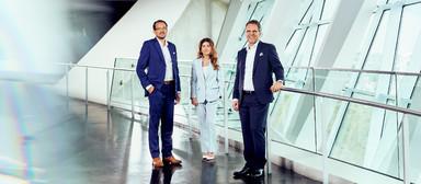 Aus dem Vorstandstrio um Steffen Szeidl (links), Izabela Danner und Dierk Mutschler ist wieder ein Duo geworden.