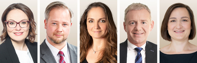 V.l.n.r.: Giulia Peretti (Real I.S.), Marco Helbig (IC Immobilien), Madlen Fiedler (Hansainvest Real Assets), Werner Harteis (Wealthcap) und Viola Joncic (Commerz Real).
