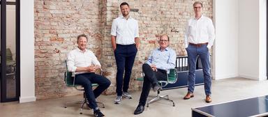 Die Führungsriege von Inbright (v.l.): Johannes Nöldeke, Sebastian Pijnenburg, Steffen Uttich und Torsten Schmidt.